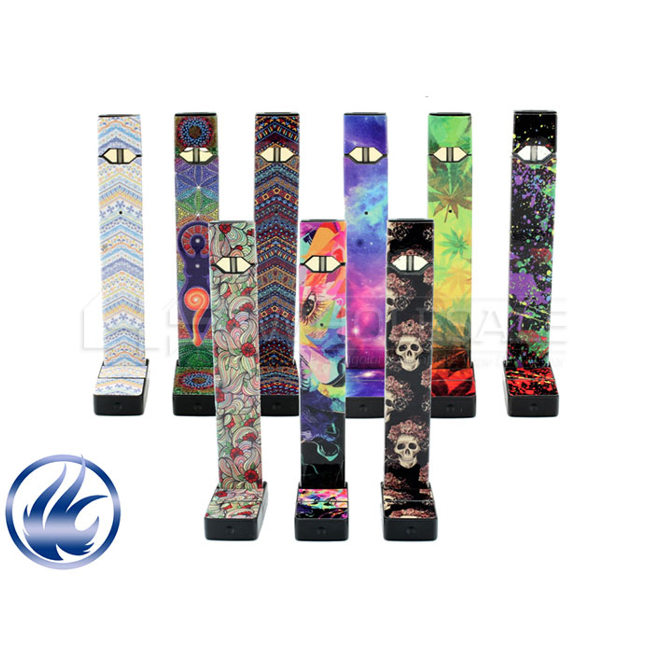 juul wraps by vape central group pack of 5 pod based systems hs
