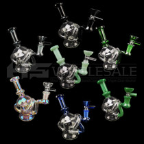 "6"" Double Chamber Recycler Water Pipe - With 14M Bowl & 4mm Banger (MSRP $60.00)"
