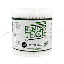 Hemper Tech - 200ct Cotton Swab Jar - Display of 6 (MSRP $5.00ea)