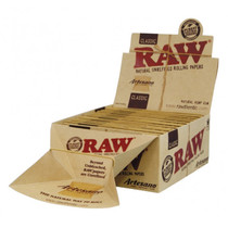 RAW 1 1/4 Unrefined Artesano Rolling Papers with Tips 50ct - Display of 15 (MSRP $5.00ea)