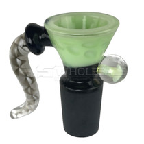 Assorted USA Color Black Tube Water Drop Funnel Horn Mushroom Marble Bowl (MSRP $25.00)