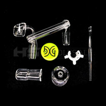 DG Dank Glass Drop Down Banger Reclaimer Set With Silicon Jar Quartz Dabber Clip (MSRP $60.00)