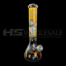 """14"""" 7mm Decal Work Water Pipe - with 14M Bowl (MSRP $90.00)"""