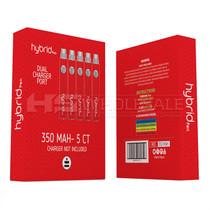 Hybrid Pen - 350mAh Dual Port Carto Battery - 5 Pack (MSRP $15.00ea)