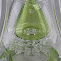 "On Point Glass - 19"" 4 Ball Recycler Perc Water Pipe - with 18M Bowl & 4mm Banger (MSRP $180.00)"