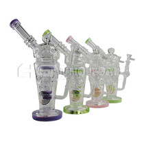 """On Point Glass - 12"""" Fabb Egg Shaker Style Water Pipe - with 14M Bowl & 4mm Banger (MSRP $145.00)"""