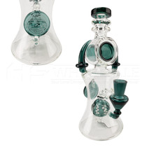 "On Point Glass - 9"" Donut & Spike Work Rig Water Pipe - with 4mm 14M Banger (MSRP 100.00)"