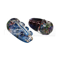 """4"""" Triangle Shape 6 Marble Spoon Hand Pipe - 2 Pack (MSRP $25.00ea)"""