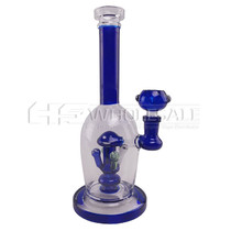 "10"" Mushroom Perc Water Pipe - with 14M Bowl & 4mm Banger (MSRP $60.00)"