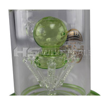 "On Point Glass - 21"" 6 Arm Recycler Water Pipe - with 18M Bowl & 4mm Banger (MSRP $195.00)"