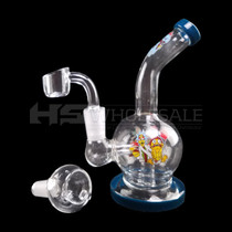 """6"""" Decal Work Ball Rig Water Pipe - with 14M Bowl & 4mm Banger (MSRP $50.00)"""
