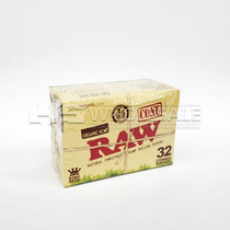 RAW®️ - Organic Unrefined Pre-Roll Cone King Size (32ct) - Display of 12 (MSRP $5.00ea)
