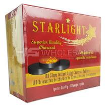 Starlight Charcoal -  33mm Coals - Box of 100