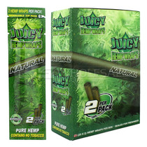 Juicy Hemp Wraps - 2 Hemp Pre Roll Pouch - Display of 25 (MSRP $2.00ea)