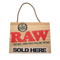 RAW® - Wood Sign - Sold Here (MSRP $15.00)