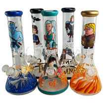 """14"""" Hand Painted Throne Water Pipe - with 14M Bowl & 4mm Banger (MSRP $85.00)"""