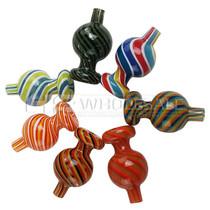 USA Hand Blown Color Stripe Bubble Carb Cap (MSRP $25.00)