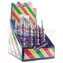 Portable Metal Pipe With Assorted Color Chrome - Display of 12 (MSRP $9.00ea)
