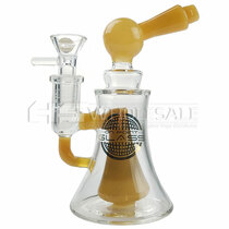 "On Point Glass - 6.3"" Large Showerhead Water Pipe - with 14M Bowl & 4mm Banger (MSRP $80.00)"