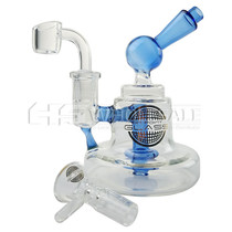 "On Point Glass - 5.6"" Bell Water Pipe - with 14M Bowl & 4mm Banger (MSRP $80.00)"