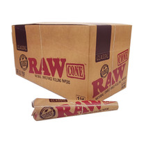RAW - Classic 1 1/4 Pre-Rolled Cones 6ct - Display of 32 (MSRP $3.50ea)