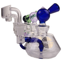 "On Point Glass - 6.5"" Compact Banger Hanger Rig - with 4mm 14M Banger (MSRP $75.00)"