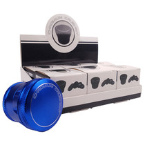 """Chromium Crusher - 2"""" Premium Tapered Button Top Assorted Color 4Part Grinders - Display of 6 (MSRP $20.00ea)"""