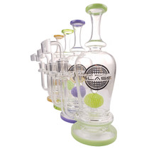 "On Point Glass - 10"" Color Rim Ball Perc Rig Box Set - with 4mm 14M Banger (MSRP $95.00)"
