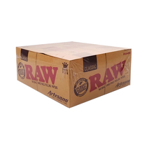 RAW - Artesano King Size Slim With Tips 32ct - Display of 15 (MSRP $4.75ea)