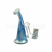 "6"" Fumed Blow-in Drop Down Mini Rig - with 4mm 14M Banger (MSRP $120.00)"