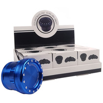 """Chromium Crusher - 2"""" Heavy Solid Bling Top Assorted Color 4Part Grinder - Display of 6 (MSRP $25.00ea)"""