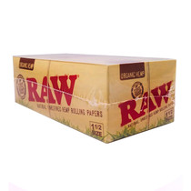 RAW - Organic Hemp 1 1/2 Rolling Papers - Display of 25 (MSRP $2.00ea)