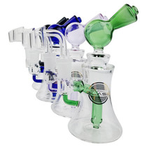"On Point Glass - 7"" Single Perc Mini Rig Box Set - with 4mm Banger (MSRP $75.00)"