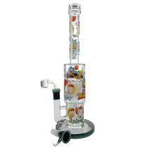 "14"" RM Decal Tree Perc Water Pipe - with 14M Bowl & 4mm Banger (MSRP $85.00)"