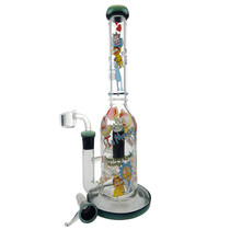 "12"" Toon Decal Water Pipe - with 14M Bowl & 4mm Banger (MSRP $75.00)"