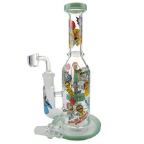 "10"" RM Color Rim Water Pipe - with 14M Bowl & 4mm Banger (MSRP $75.00)"