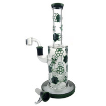 "10"" Honeycomb Decal Water Pipe - with 14M Bowl & 4mm Banger (MSRP $75.00)"