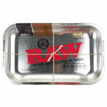 "RAW - Rolling Tray Metal Silver 11"" x 7""  - Small (MSRP $15.00)"