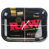 "RAW - Rolling Tray Metal Black 13 1/2"" x 11""- Large (MSRP $17.00)"