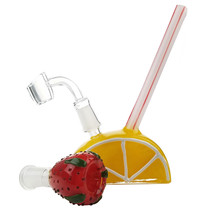 "7"" Strawberry Lemonade Rig - with 14M Bowl & 4mm Banger (MSRP $70.00)"