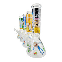"12"" 9mm Toon Decal Beaker Water Pipe - with 14M Bowl & 4mm Banger (MSRP $75.00)"