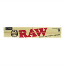 "RAW - Classic Supernatural 12"" Rolling Papers - Display of 20 (MSRP $4.00ea)"