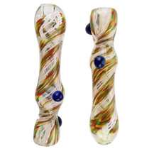 """3.5"""" Twisted Color Rod Work Chillum Hand Pipe - 2 Pack (MSRP $25.00ea)"""