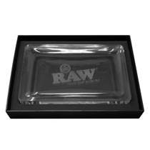 RAW - Rolling Tray - Crystal Glass (MSRP $190.00)