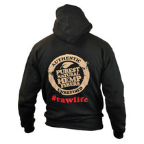 RAW - Men's Hoodie With Custom Poker Strings - Black (MSRP $65.00)