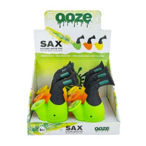 Ooze - Sax Silicone Water Pipe + Quartz Bowl - Display of 6 (MSRP $20.00ea)
