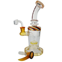 "Cheech Glass - 10"" Showerhead Rig Water Pipe with 14M Bowl & 4mm Banger (MSRP $130.00)"