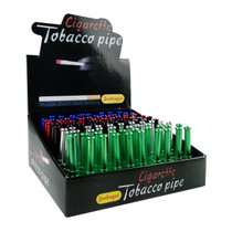 55mm Aluminum Tobacco Taster With Teeth - 100ct Display (MSRP $2.00ea)