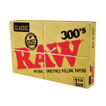 RAW - Classic 1 1/4 300'S Rolling Papers - Display of 40 (MSRP $5.00ea)