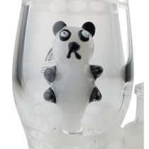 "On Point Glass - 8"" Lava Lamp Panda Rig Water Pipe  - with 4mm 14M Banger (MSRP $85.00)"
